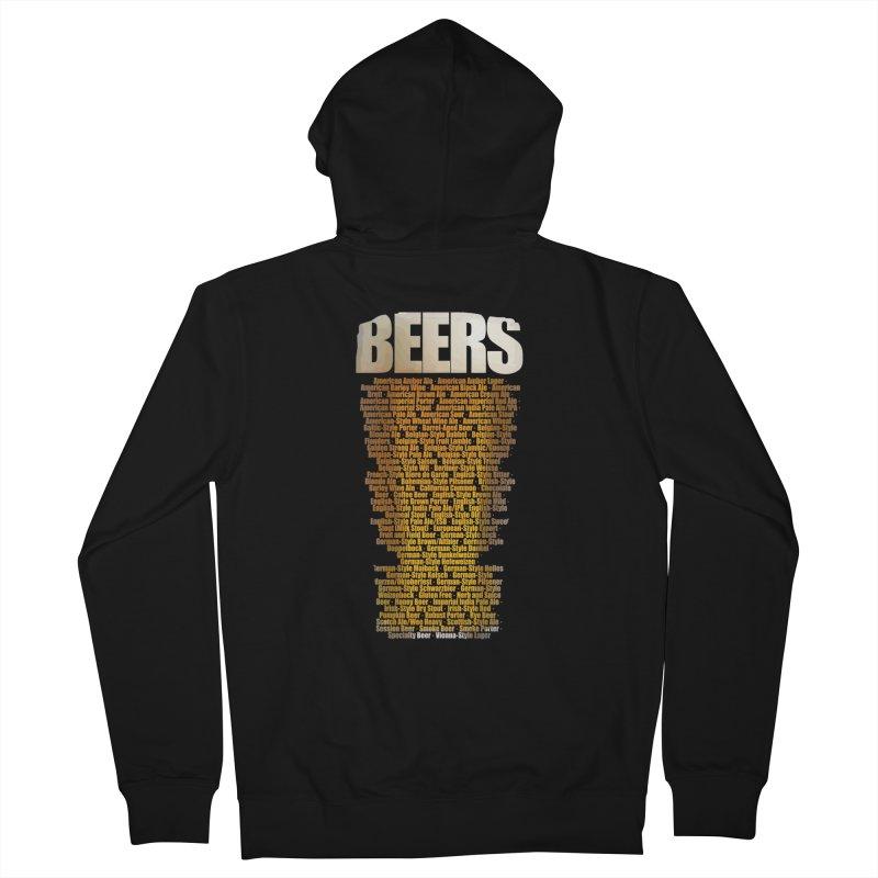 beers types Men's Zip-Up Hoody by manuvila