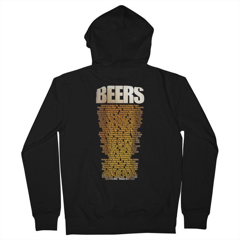beers types Women's French Terry Zip-Up Hoody by manuvila