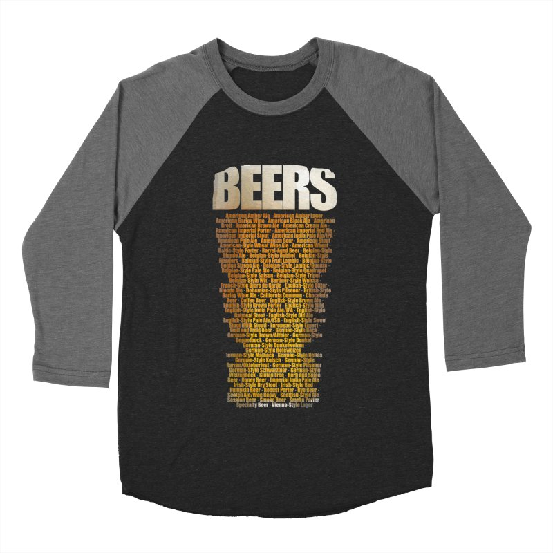 beers types Men's Baseball Triblend Longsleeve T-Shirt by manuvila