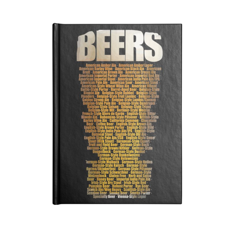 beers types Accessories Blank Journal Notebook by manuvila