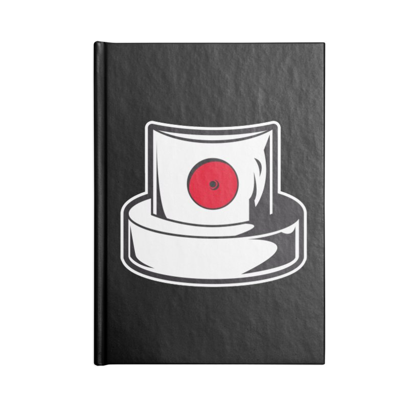white cap Accessories Blank Journal Notebook by manuvila