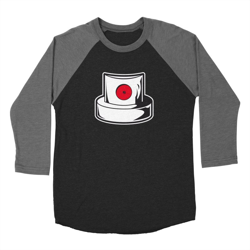 white cap Men's Baseball Triblend Longsleeve T-Shirt by manuvila