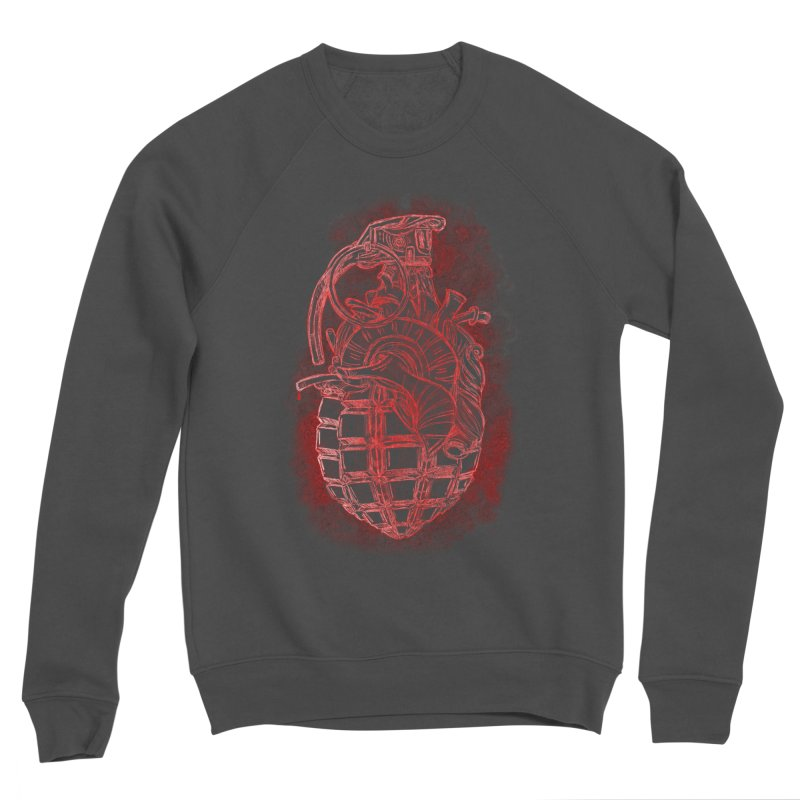 war heart Men's Sponge Fleece Sweatshirt by manuvila