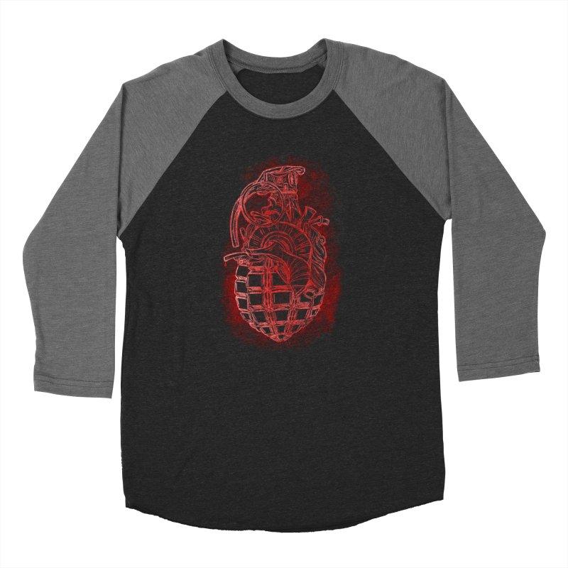 war heart Men's Baseball Triblend Longsleeve T-Shirt by manuvila
