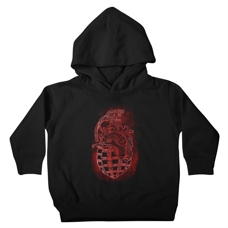 war heart Kids Toddler Pullover Hoody by manuvila