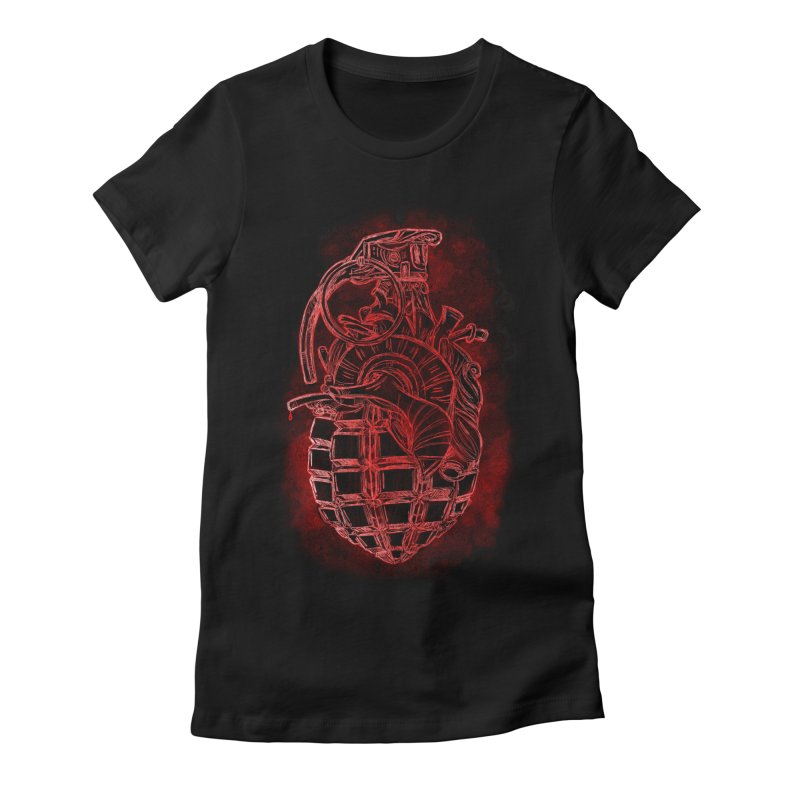 war heart Women's Fitted T-Shirt by manuvila