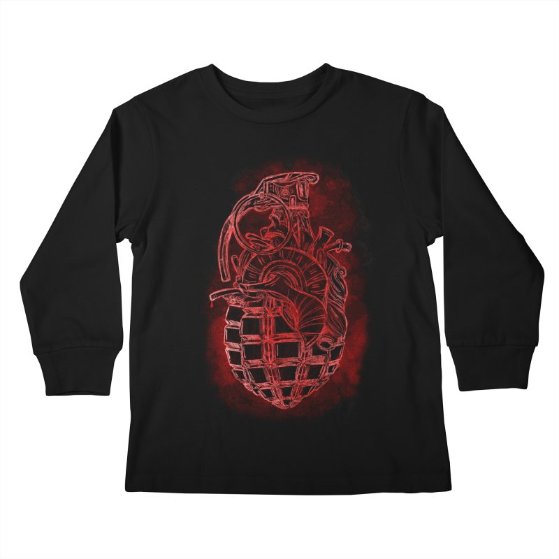 war heart Kids Longsleeve T-Shirt by manuvila