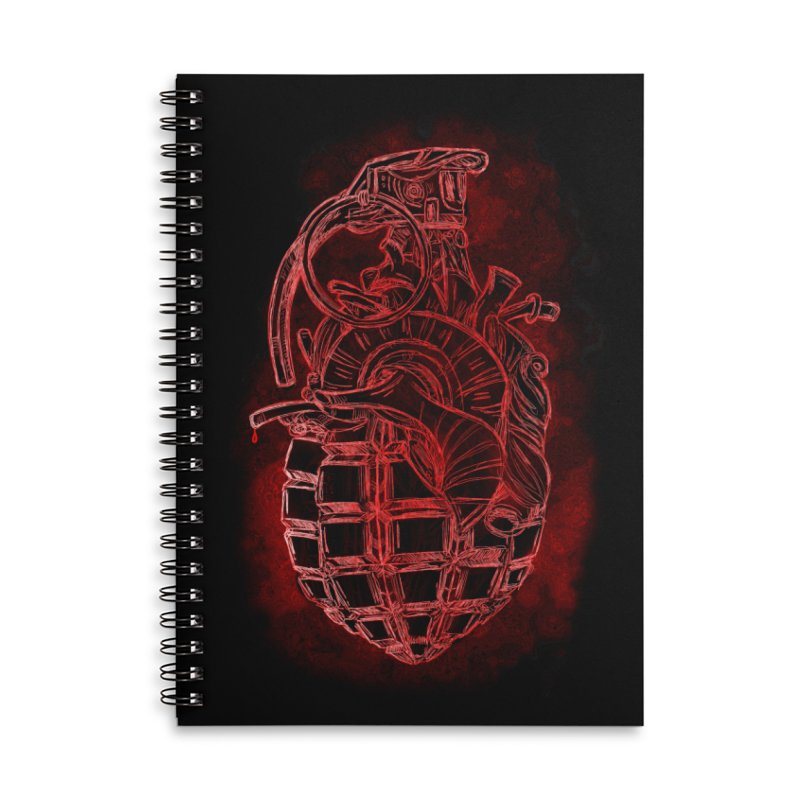 war heart Accessories Lined Spiral Notebook by manuvila