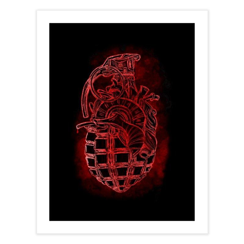 war heart Home Fine Art Print by manuvila