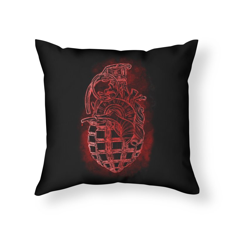 war heart Home Throw Pillow by manuvila