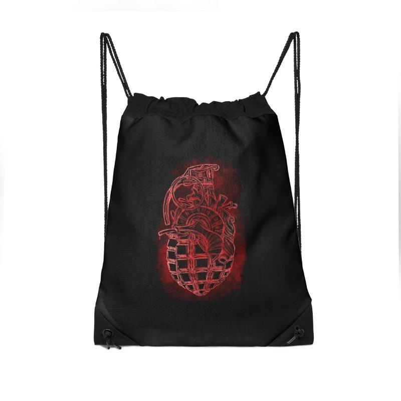 war heart Accessories Drawstring Bag Bag by manuvila
