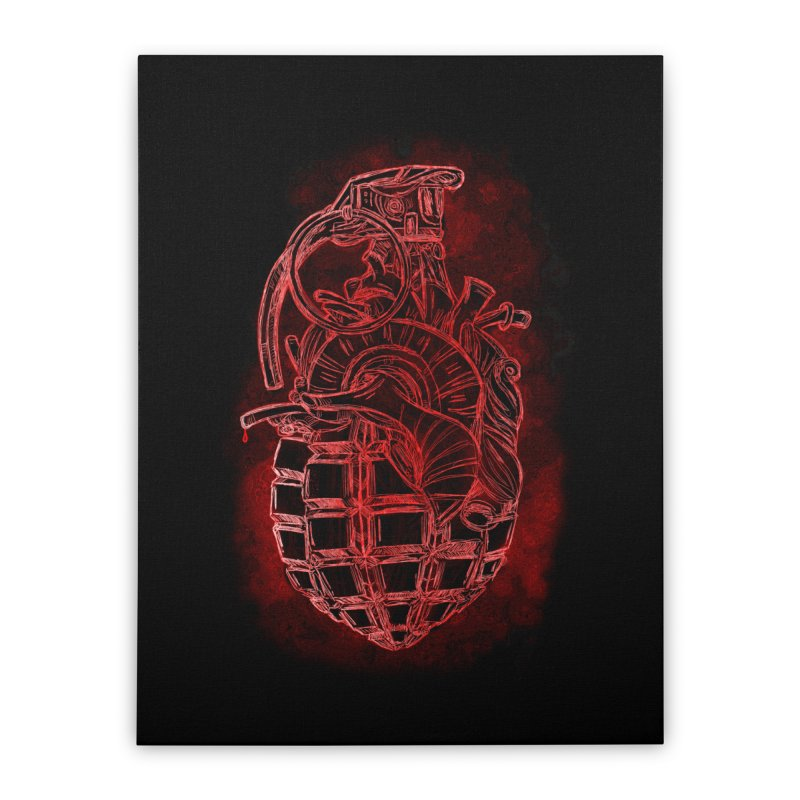 war heart Home Stretched Canvas by manuvila