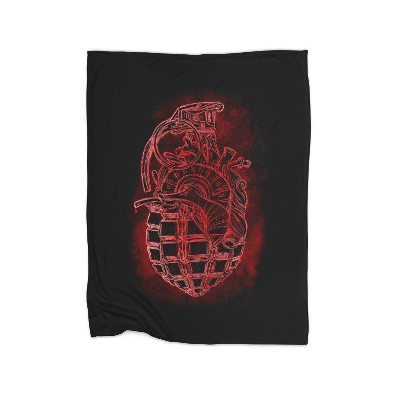 war heart Home Fleece Blanket Blanket by manuvila