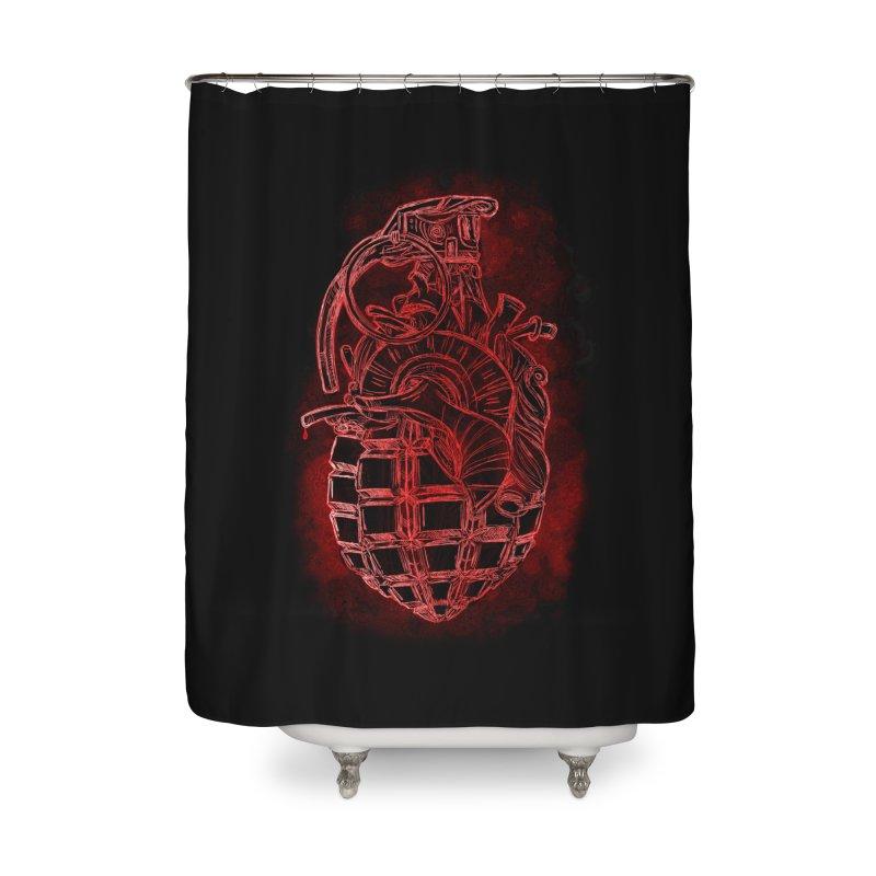 war heart Home Shower Curtain by manuvila