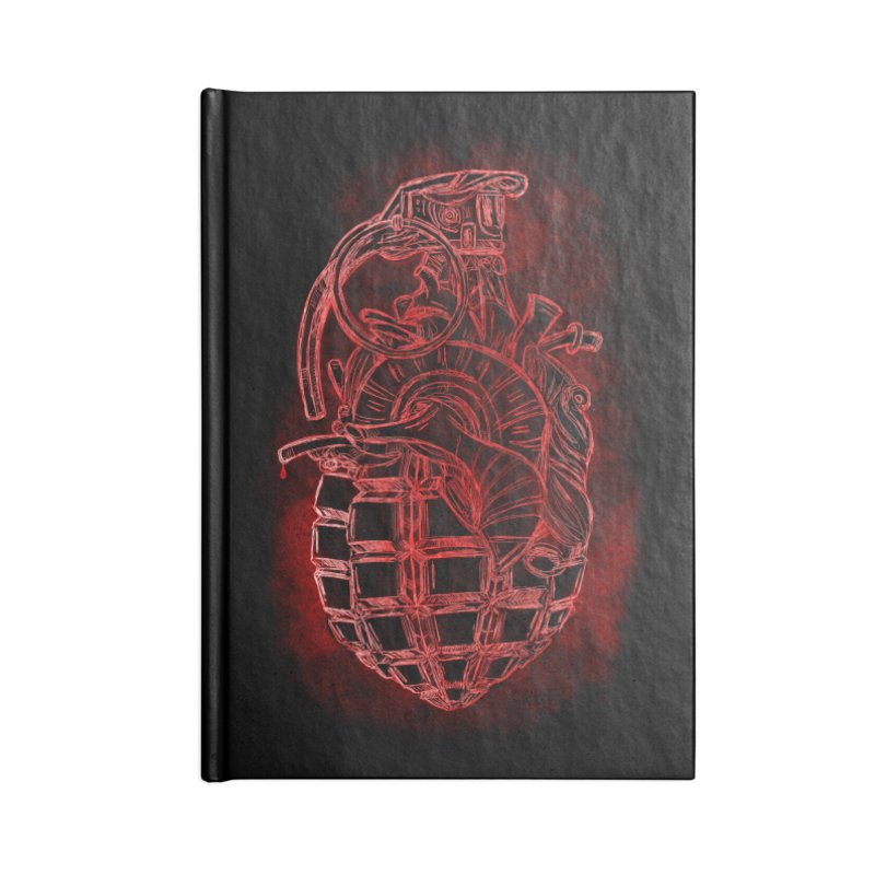 war heart Accessories Lined Journal Notebook by manuvila
