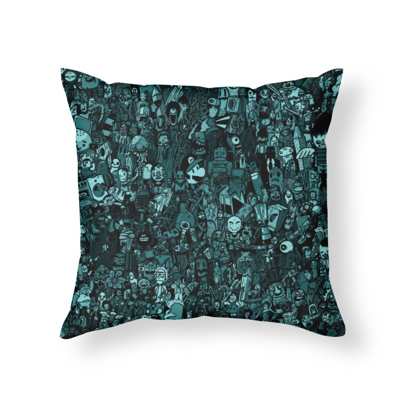 mix Home Throw Pillow by manuvila
