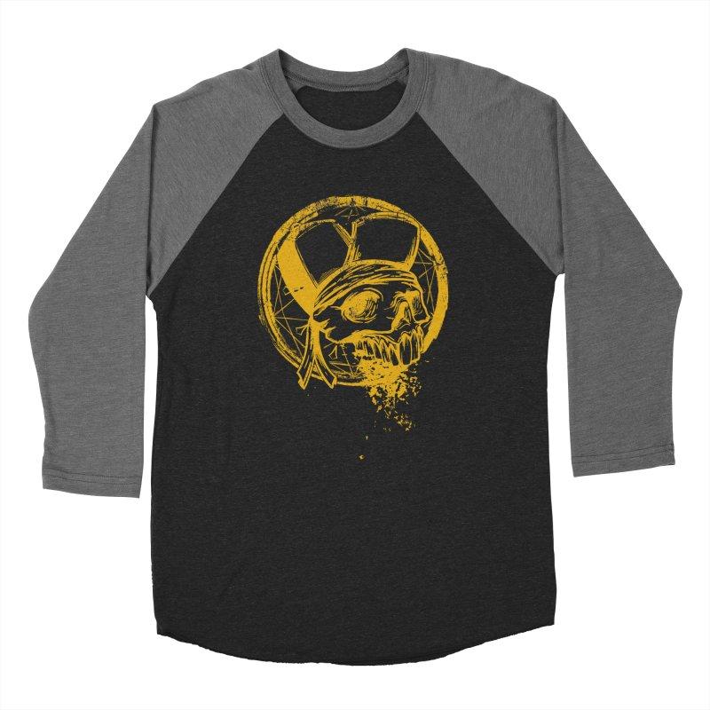 calavera pandillero Women's Baseball Triblend Longsleeve T-Shirt by manuvila