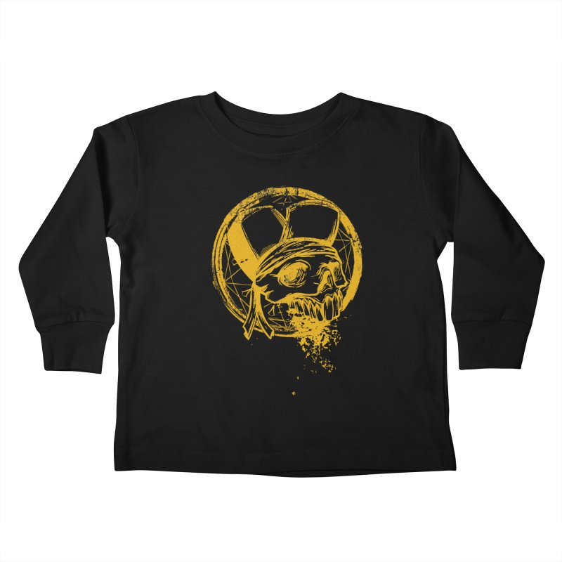 calavera pandillero Kids Toddler Longsleeve T-Shirt by manuvila
