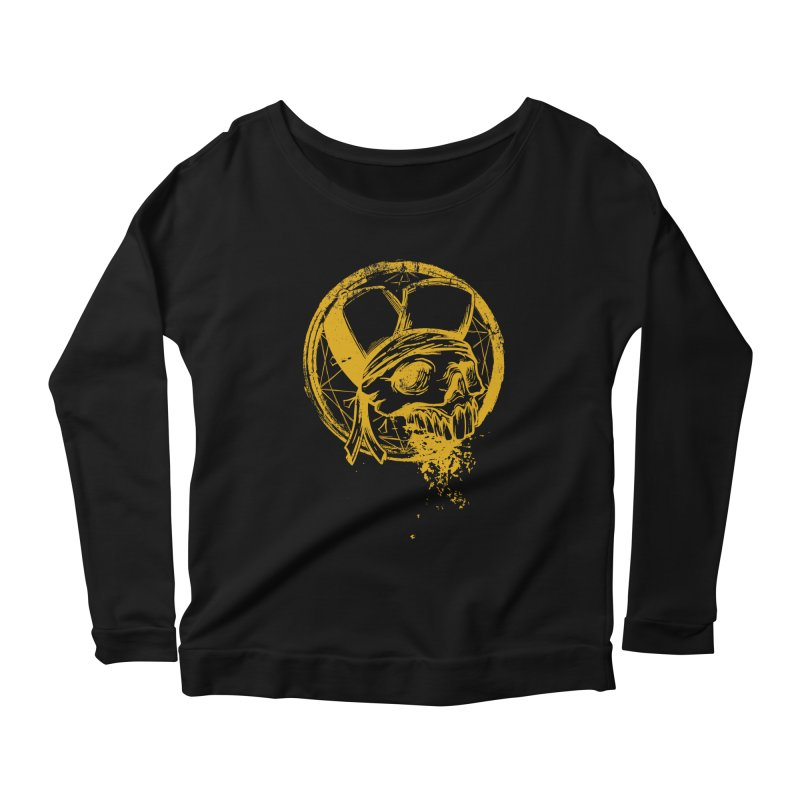 calavera pandillero Women's Scoop Neck Longsleeve T-Shirt by manuvila