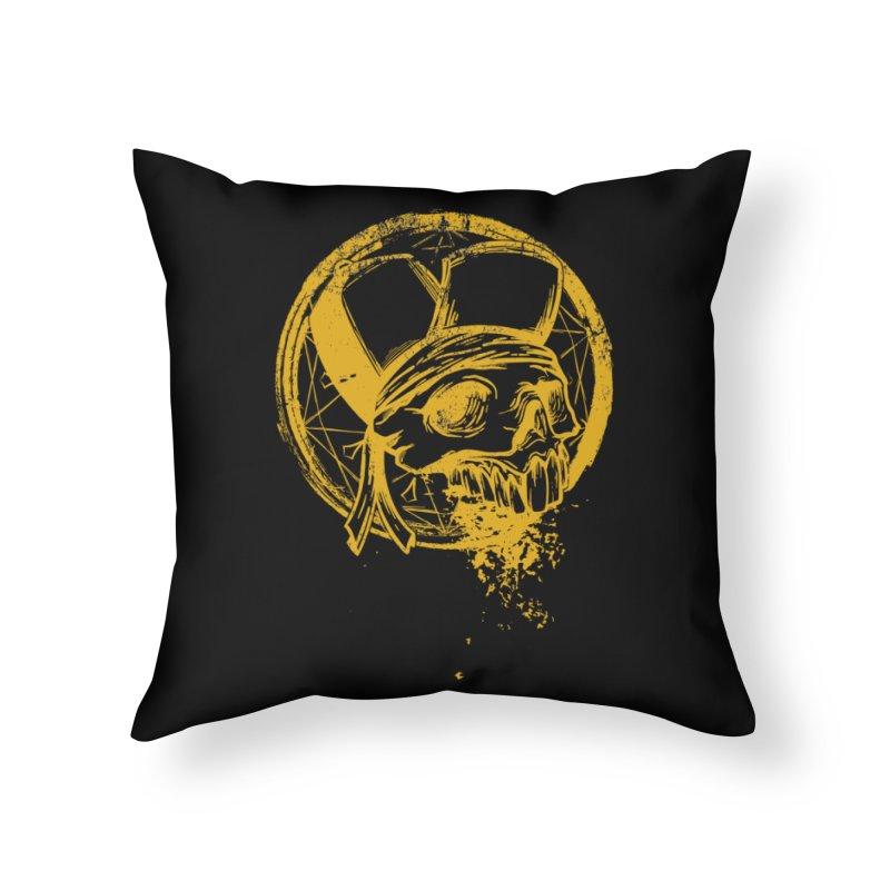 calavera pandillero Home Throw Pillow by manuvila