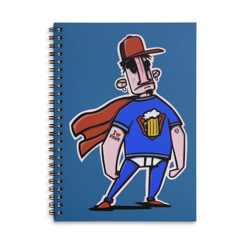 superbeer Accessories Lined Spiral Notebook by manuvila