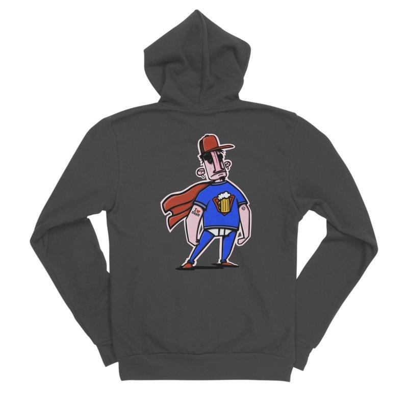 superbeer Men's Sponge Fleece Zip-Up Hoody by manuvila
