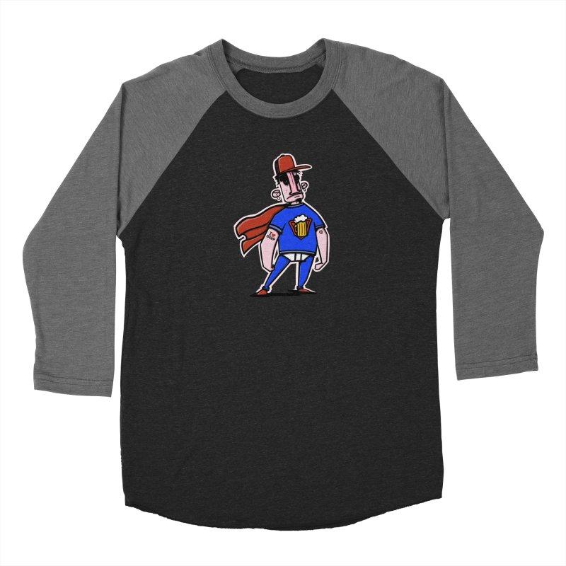superbeer Men's Baseball Triblend Longsleeve T-Shirt by manuvila