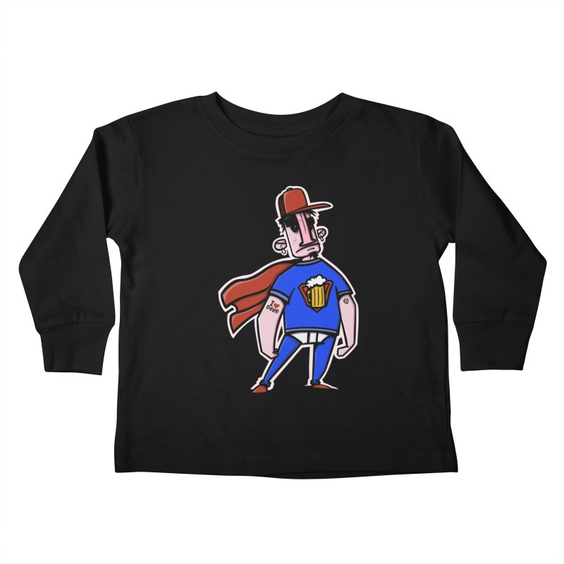superbeer Kids Toddler Longsleeve T-Shirt by manuvila
