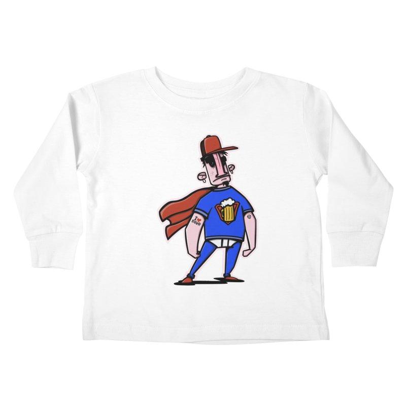 superbeer Kids Toddler Longsleeve T-Shirt by manuvila