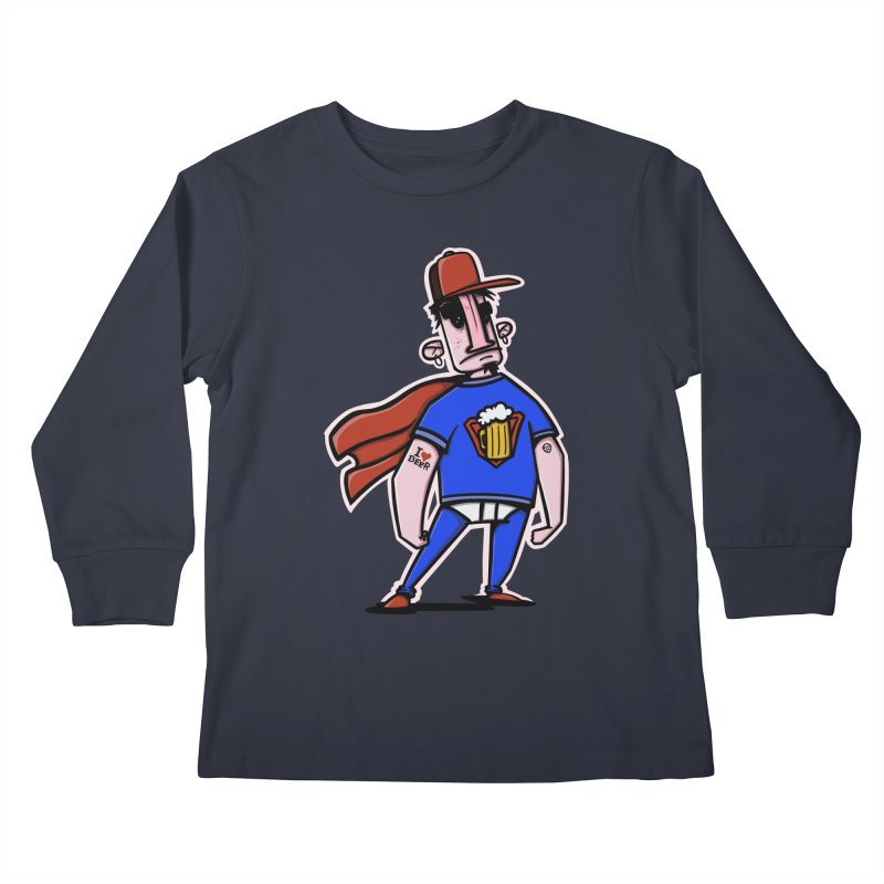 superbeer Kids Longsleeve T-Shirt by manuvila