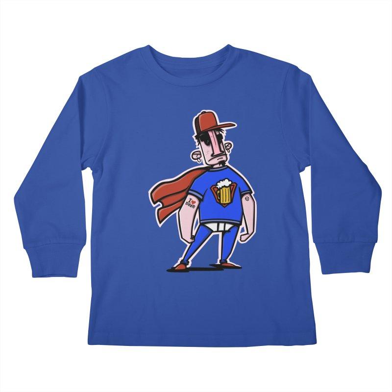 superbeer Kids Longsleeve T-Shirt by manuvila