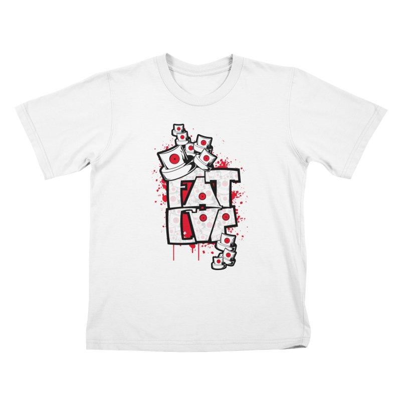 Fat cap Kids T-Shirt by manuvila