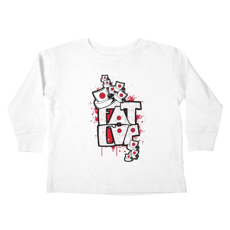 Fat cap Kids Toddler Longsleeve T-Shirt by manuvila