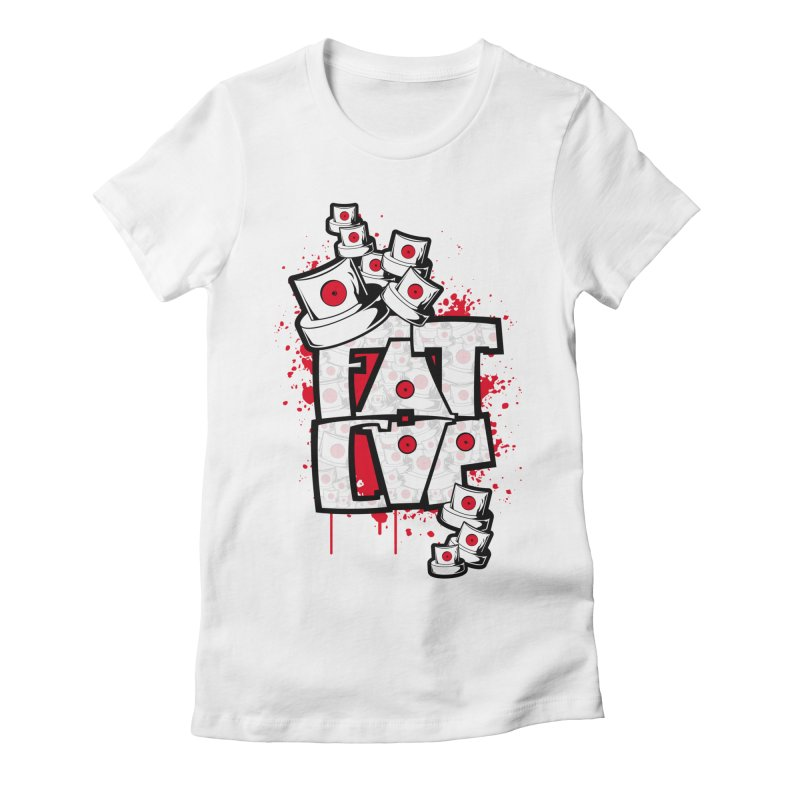 Fat cap Women's Fitted T-Shirt by manuvila