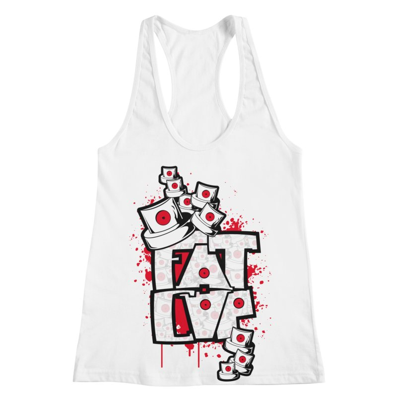 Fat cap Women's Racerback Tank by manuvila