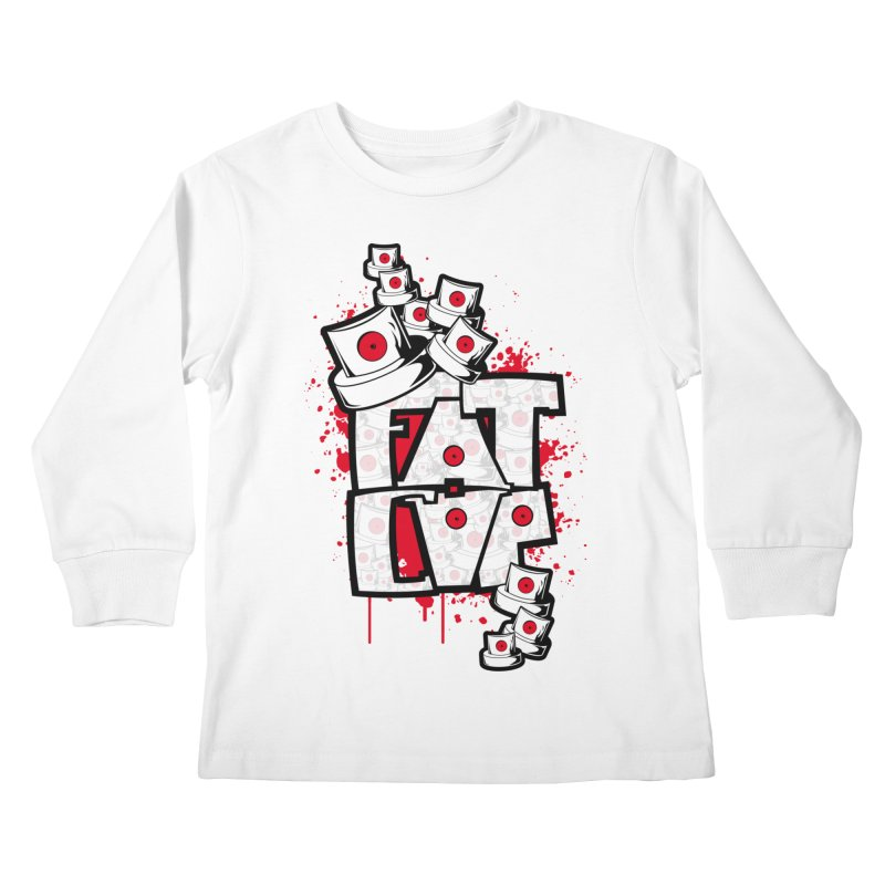 Fat cap Kids Longsleeve T-Shirt by manuvila