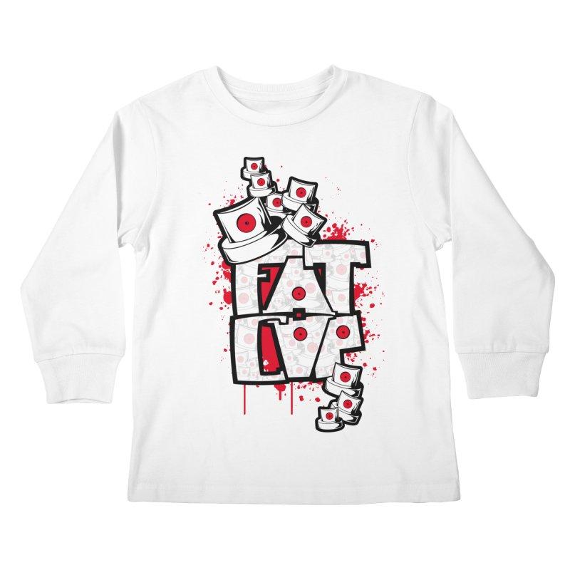 Fat cap Kids Longsleeve T-Shirt by manuvila