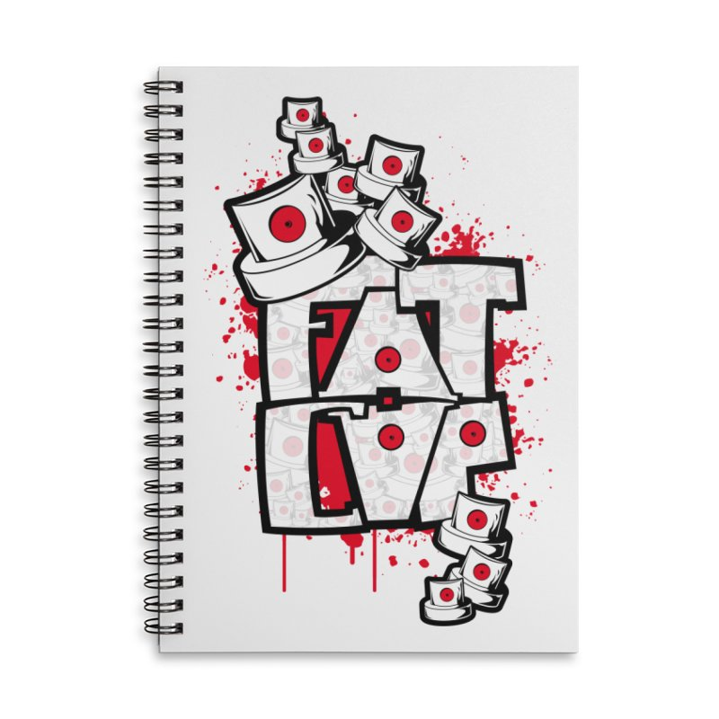 Fat cap Accessories Lined Spiral Notebook by manuvila