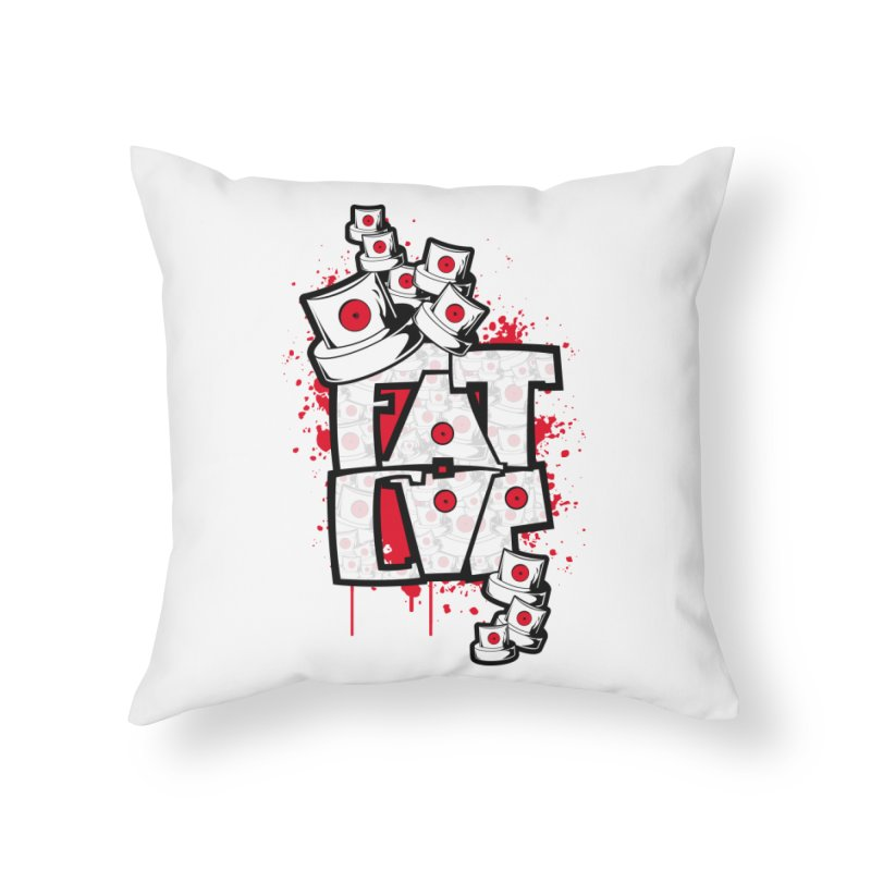 Fat cap Home Throw Pillow by manuvila