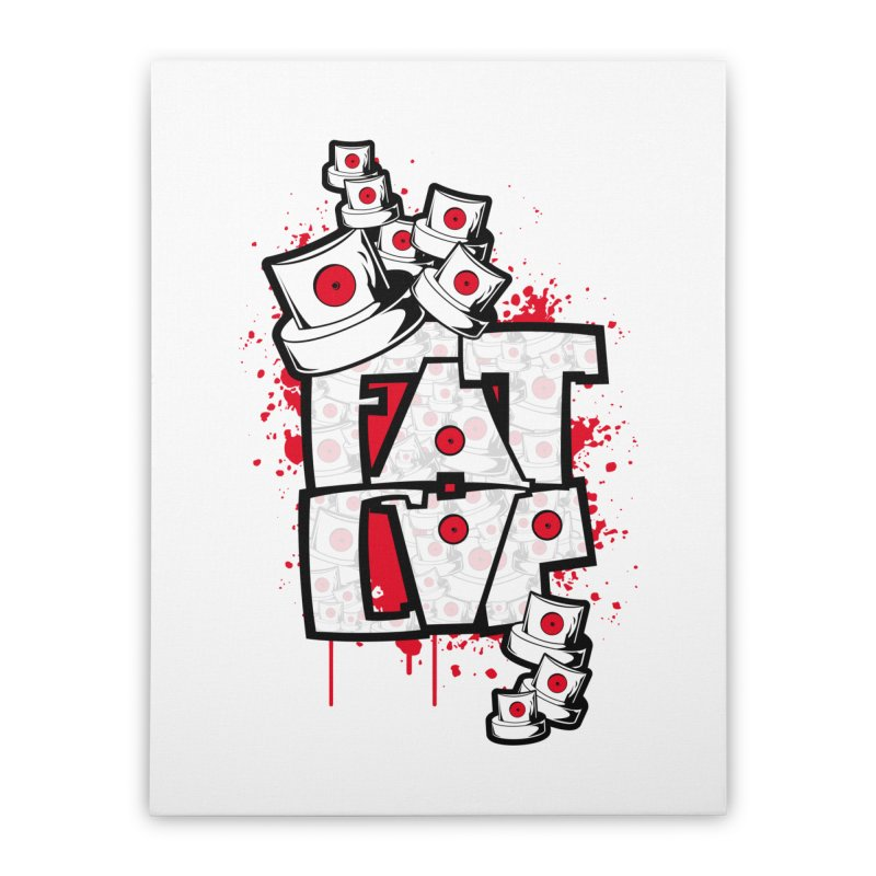 Fat cap Home Stretched Canvas by manuvila