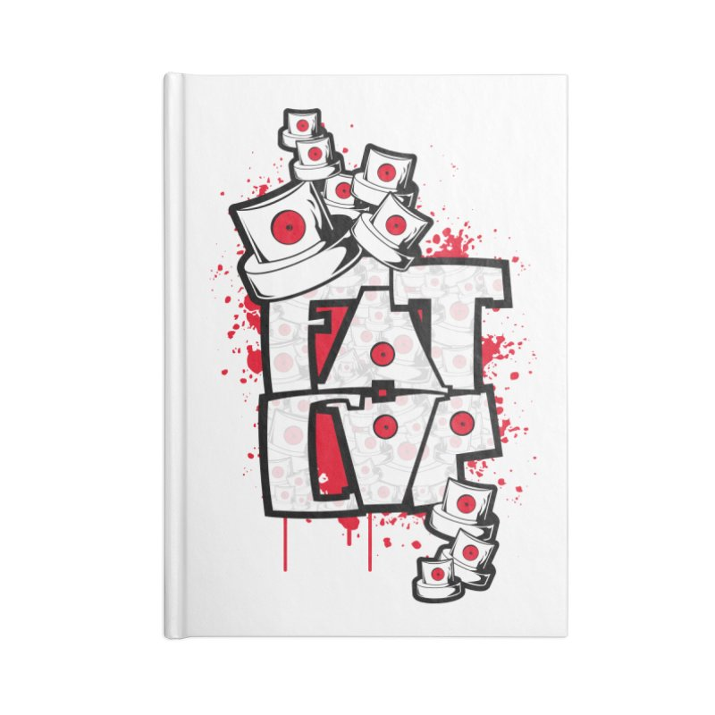 Fat cap Accessories Lined Journal Notebook by manuvila