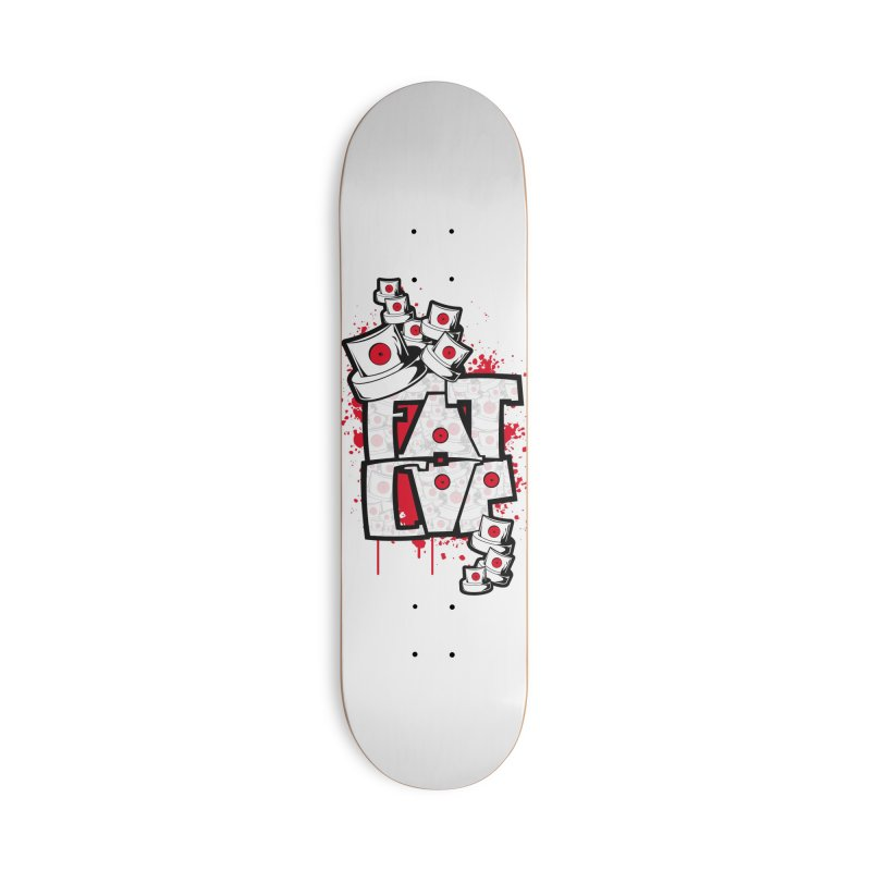 Fat cap Accessories Deck Only Skateboard by manuvila
