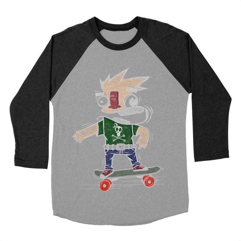 Skateman Women's Baseball Triblend Longsleeve T-Shirt by manuvila