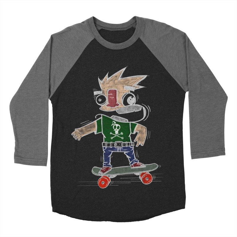 Skateman Men's Baseball Triblend Longsleeve T-Shirt by manuvila
