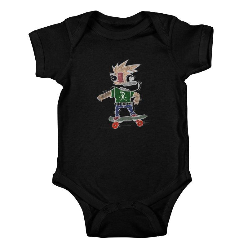 Skateman Kids Baby Bodysuit by manuvila