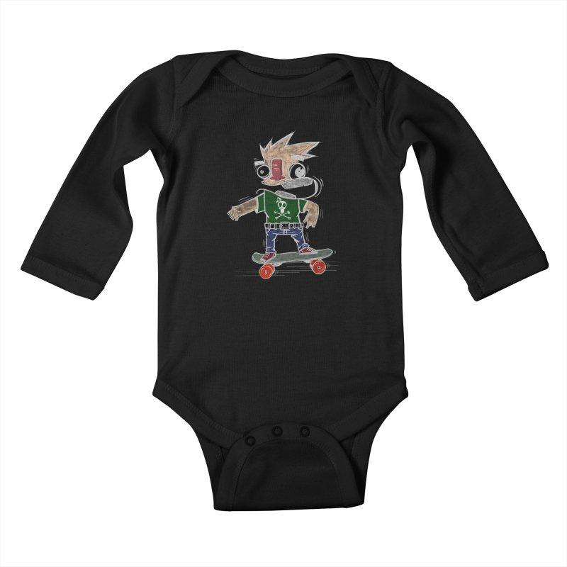Skateman Kids Baby Longsleeve Bodysuit by manuvila