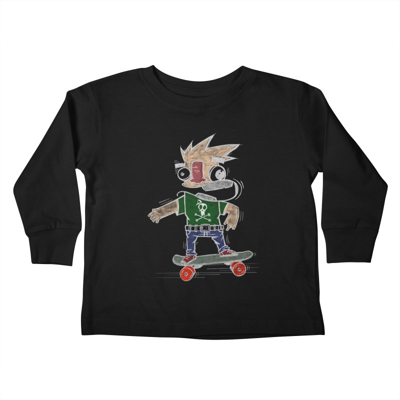 Skateman Kids Toddler Longsleeve T-Shirt by manuvila