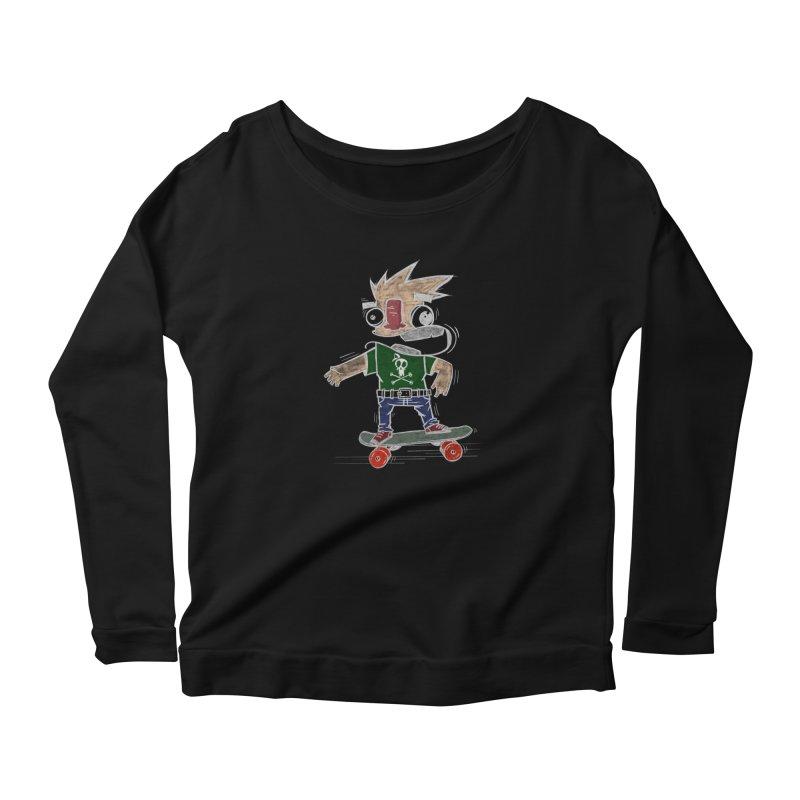 Skateman Women's Longsleeve T-Shirt by manuvila