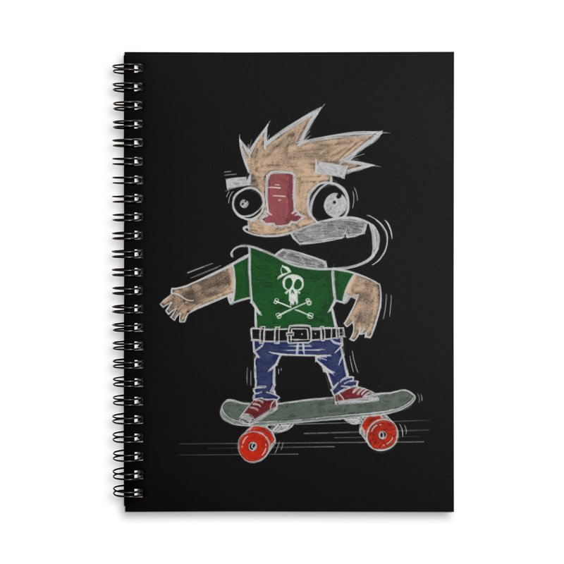 Skateman Accessories Lined Spiral Notebook by manuvila