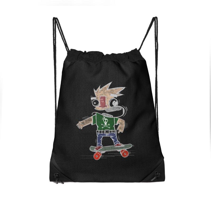 Skateman Accessories Drawstring Bag Bag by manuvila